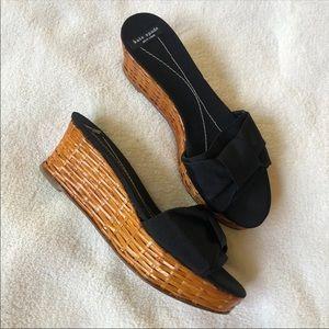 Kate Spade Bamboo Platform Sandals Size 7
